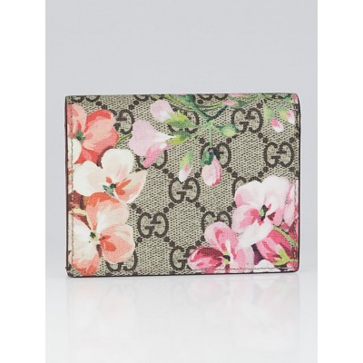 Gucci Beige/Pink GG Coated Canvas Supreme Blooms Card Case