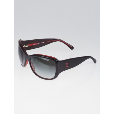 Chanel Red Frame Gradient Tint CC Logo Sunglasses - 5226-H