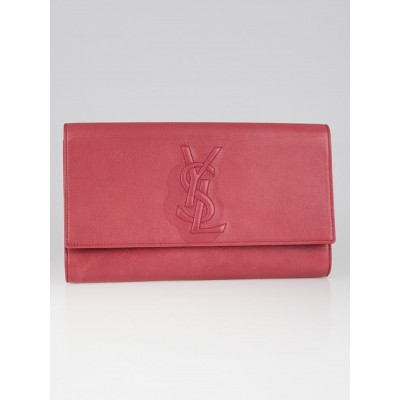 Yves Saint Laurent Pink Leather Belle de Jour Clutch Bag
