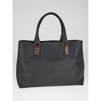 Bottega Veneta Black PVC Marco Polo Shopper Tote Bag