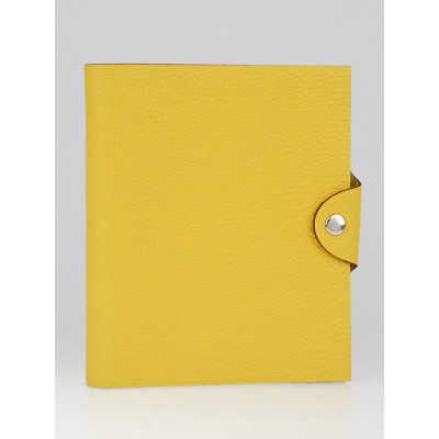 Hermes Soleil Clemence Leather Ulysse PM Agenda/Notebook