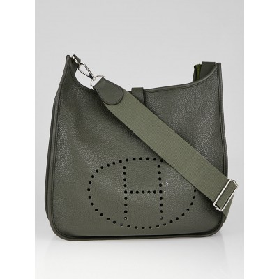 Hermes Canopee Clemence Leather Evelyne III GM Bag