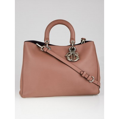 Christian Dior Taupe Calfskin Leather Diorissimo Large Tote Bag