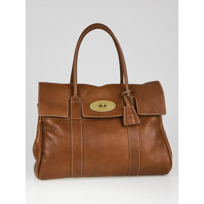 Mulberry Oak Grained Leather Bayswater Bag