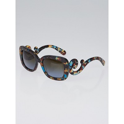 Prada Tortoise Shell Square Frame Baroque 54mm Sunglasses - SPR270