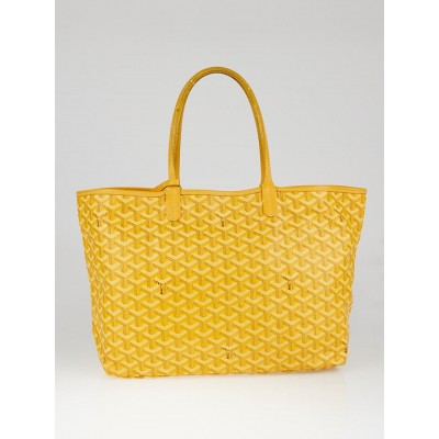 Goyard  Yellow Chevron Print Coated Canvas St. Louis PM Tote Bag