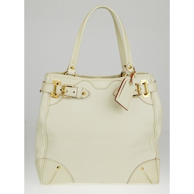 Louis Vuitton White Suhali Leather Le Majestueux Tote Bag
