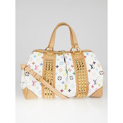 Louis Vuitton White Monogram Multicolore Courtney GM Bag