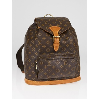 Louis Vuitton Monogram Canvas Montsouris GM Backpack Bag