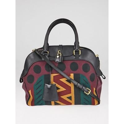 Burberry Prorsum Multicolor Milverton Canvas/Leather Tapestry Bag