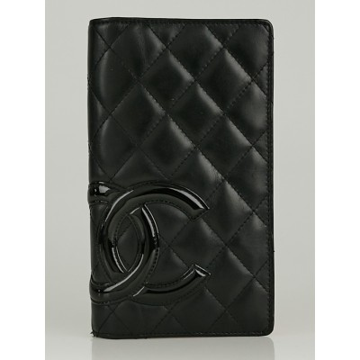 Chanel Black Quilted Cambon Ligne L Yen Wallet