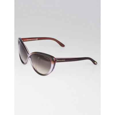 Tom Ford Purple Plastic Frame Cat-Eye Madison Sunglasses - TF253