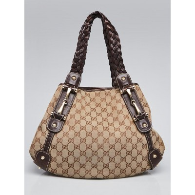Gucci Beige/Ebony GG Canvas Pelham Small Shoulder Bag