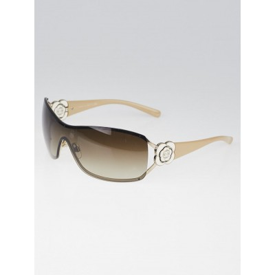 Chanel Beige and White Camellia Flower Sunglasses - 4164