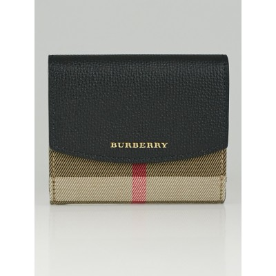 Burberry House Check Luna French Wallet