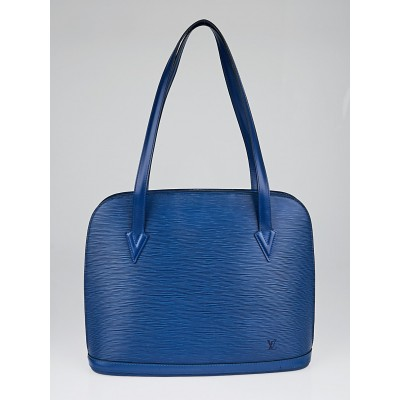 Louis Vuitton Toledo Blue Epi Leather Lussac Tote Bag