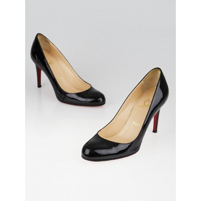 Christian Louboutin Black Patent Leather Simple 85 Pumps Size 5.5/36