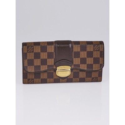 Louis Vuitton Damier Canvas Sistina Portefeuille Wallet