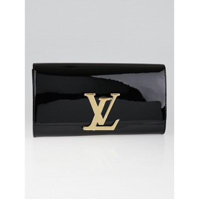 Louis Vuitton Black Vernis Leather Louise Clutch Bag