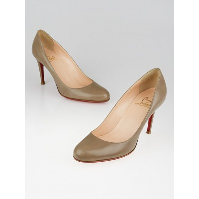 Christian Louboutin Grey Leather Simple 85 Pumps Size 8.5/39
