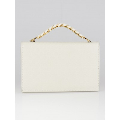 Stella McCartney White Faux Embossed Leather Grace Clutch Bag