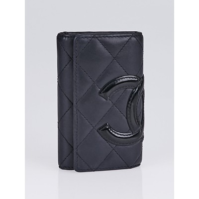 Chanel Black Quilted Cambon Ligne Multicles 6 Key Holder
