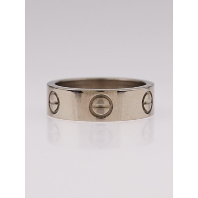Cartier 18k White Gold LOVE Ring Size 5.25/50
