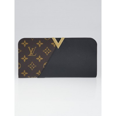 Louis Vuitton Monogram Canvas and Black Leather Kimono Wallet