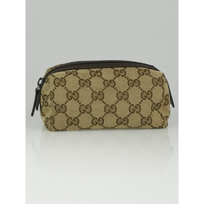 Gucci Beige/Ebony GG Canvas Cosmetic Pouch