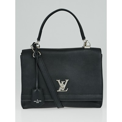 Louis Vuitton Black Calfskin Leather Lockme II Bag