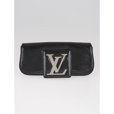 Louis Vuitton Black Electric Epi Leather Pochette SoBe Clutch Bag