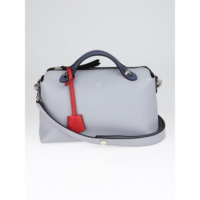 Fendi Blue Tri-Color Calfskin Leather Small By The Way Bag 8BL124