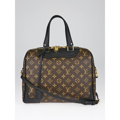 Louis Vuitton Black Leather and Monogram Canvas Retiro NM Bag