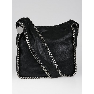 Stella McCartney Black Shaggy Deer Faux-Leather Crossbody Bag