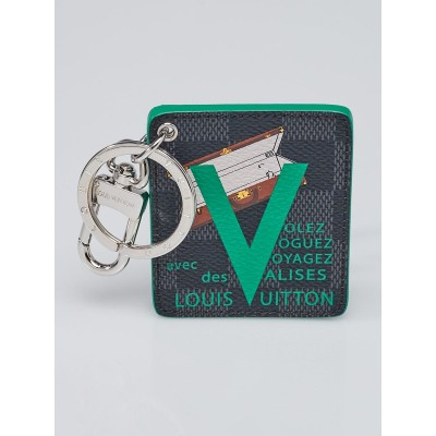 Louis Vuitton Limited Edition Monogram Canvas Illustre Green Trunk Voyages Key Holder and Bag Charm