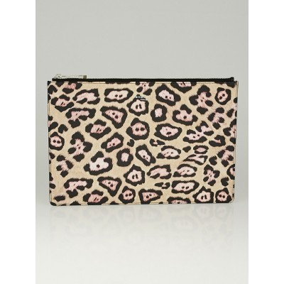 Givenchy Multicolor Jaguar Print Coated Canvas Zip Pouch Bag