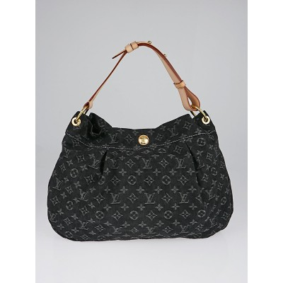 Louis Vuitton Black Denim Monogram Denim Daily PM Bag