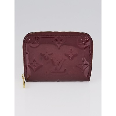 Louis Vuitton Rouge Fauviste Monogram Vernis Zippy Coin Purse