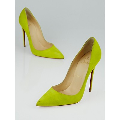 Christian Louboutin Yellow Suede So Kate 120 Pumps Size 7/37.5