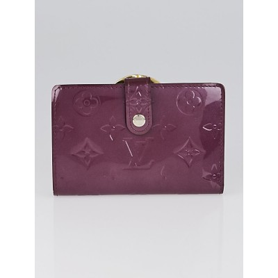 Louis Vuitton Violette Monogram Vernis Port Feuille Vienoise French Purse Wallet