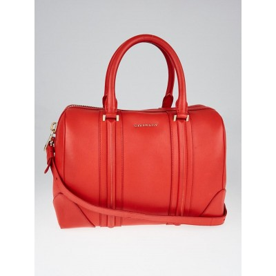 Givenchy Red Leather Medium Lucrezia Duffle Bag