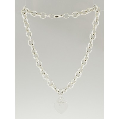 Tiffany & Co. Sterling Silver Tiffany Heart Tag Necklace