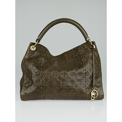 Louis Vuitton Limited Edition Gris Python Artsy MM Bag
