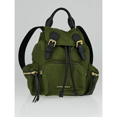 Burberry Green Technical Nylon Small Rusack Backpack Bag