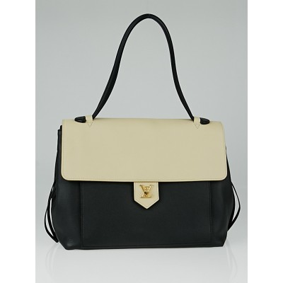 Louis Vuitton Vanille Noir Leather Lockme MM Bag