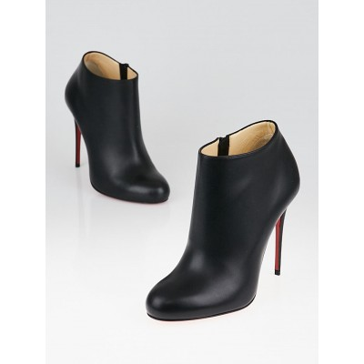 Christian Louboutin Black Calf Charme Leather Bellissima 100 Ankle Booties Size 5.5/36