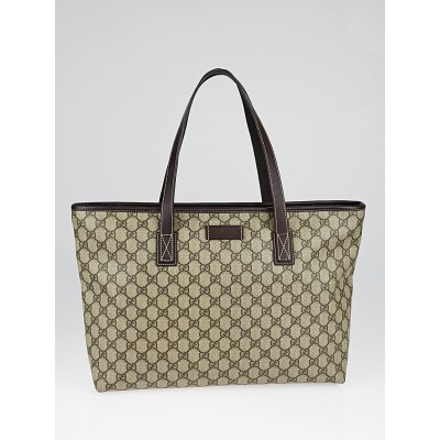 Gucci Beige/Ebony GG Coated Canvas Medium Tote Bag