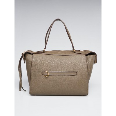 Celine Taupe Pebbled Calfskin Leather Small Ring Bag