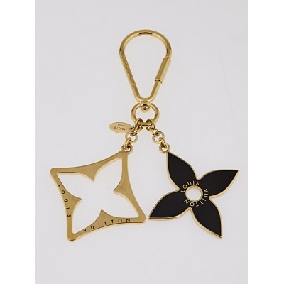 Louis Vuitton Black Resin Monogram Fleur Key Holder and Bag Charm