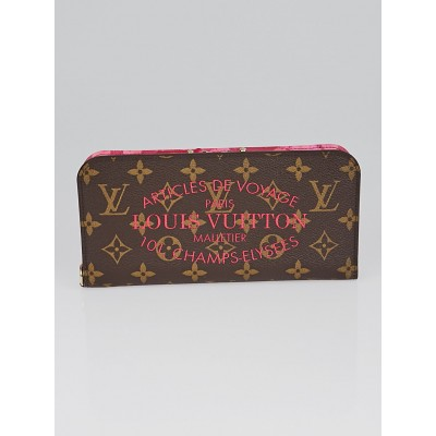 Louis Vuitton Limited Edition Rose Indian Monogram Ikat Insolite Wallet